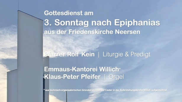 Embedded thumbnail for Gottesdienst am 24.01.2021